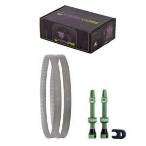 CUSHCORE GRAVEL/CX TIRE INSERTS SET WITH TUBELESS VALVES 700C